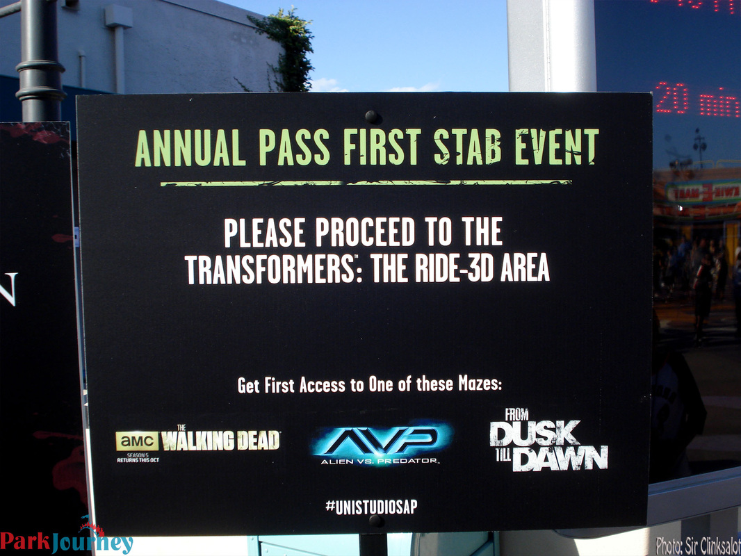 basically how the first stab works is you buy your ticket online with the special ap price and it will say annual pass admission includes first stab - Price Of Halloween Horror Nights